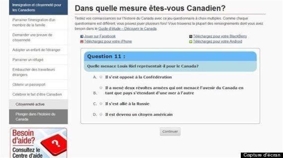 Citoyenneté et Immigration Canada: le rôle joué par Louis Riel dans un test en ligne soulève la