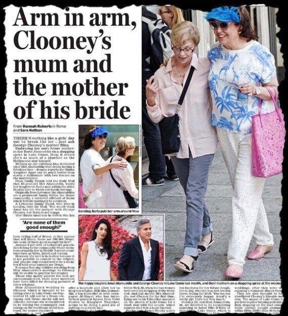Mariage de George Clooney: il dénonce une information «fabriquée» sur la mère de sa
