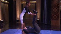 Halle Berry fait des galipettes à la télé