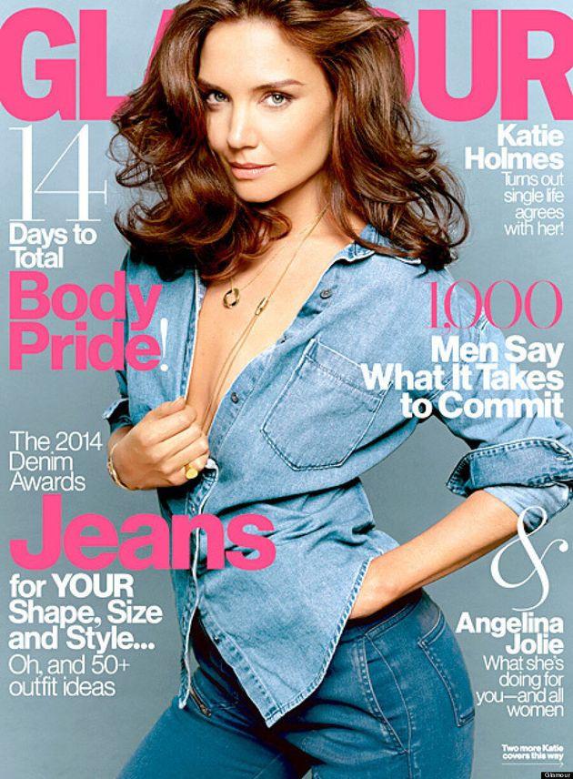 Katie Holmes seins nus pour Glamour magazine