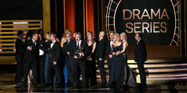 LOS ANGELES, CA - AUGUST 25: 66th ANNUAL PRIMETIME EMMY AWARDS -- Pictured: Writer/producer Vince Gilligan...