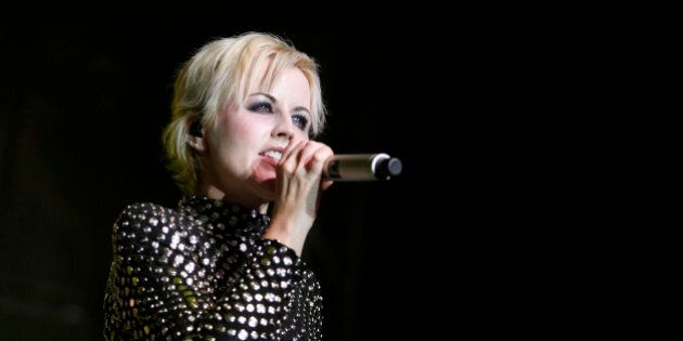 BELGRADE, SERBIA - DECEMBER 04: Dolores O'Riordan of The Cranberries performs at Sports Hall on December...