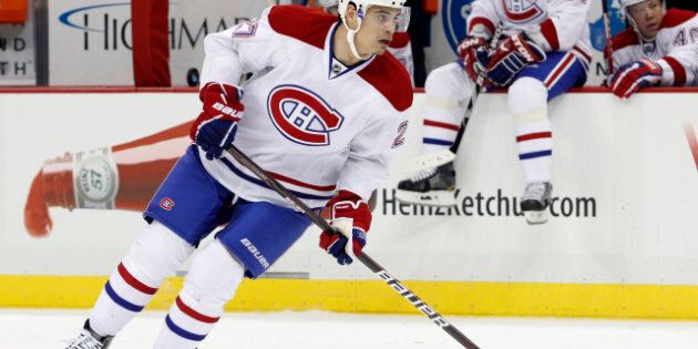 PITTSBURGH, PA - JANUARY 20: Rene Bourque #27 of the Montreal Canadiens skates against the Pittsburgh...