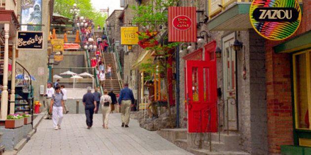 Rue du Petit Champlain, à Québec: plus belle rue piétonne au Canada
