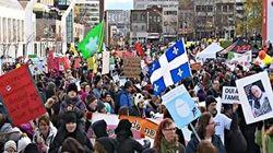 Des milliers de personnes ont manifesté contre la hausse des frais de