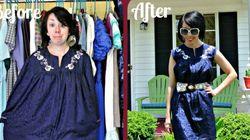 Elle fait de la récupération d'habits avec brio