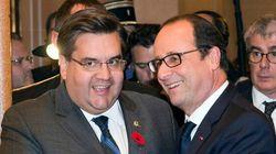 François Hollande à la mairie de Montréal, 47 ans après De