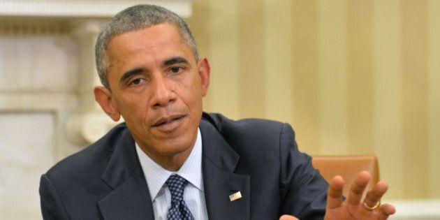 WASHINGTON, DC - OCTOBER 16: U.S. President Barack Obama speaks to the media about the fight against...