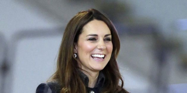 Britain's Kate Duchess of Cambridge smiles during her visit to the Emirates Arena in Glasgow, Scotland....