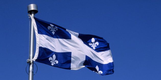 QUEBEC, CANADA - 1992/01/01: Canada,quebec,quebec City, Quebec Provincial Flag. (Photo by Wolfgang Kaehler/LightRocket via Getty Images)