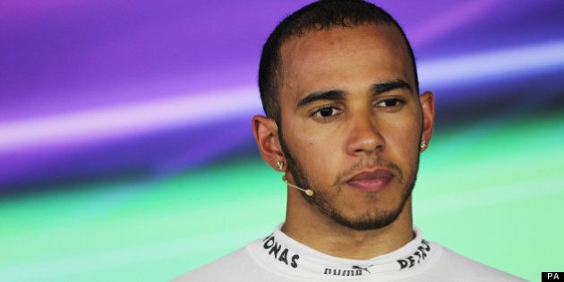 Lewis Hamilton (GBR) Mercedes AMG F1 in the FIA Press Conference.Hungarian Grand Prix, Saturday 27th...