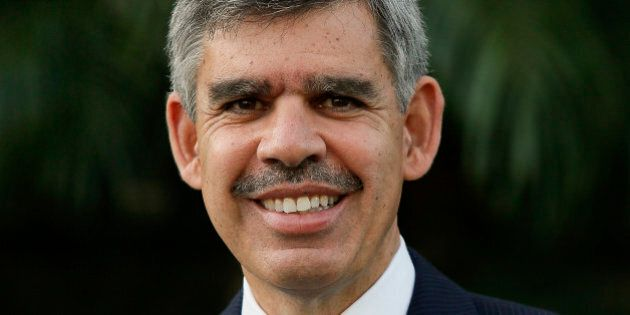 Mohamed El-Erian, former chief executive officer of Pacific Investment Management Co. (PIMCO), stands...