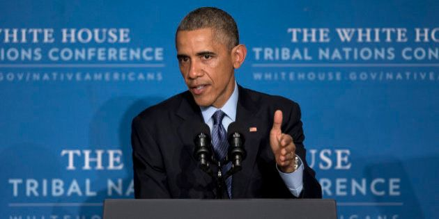 President Barack Obama speaks about the decision made by a grand jury in New York City to not indict...