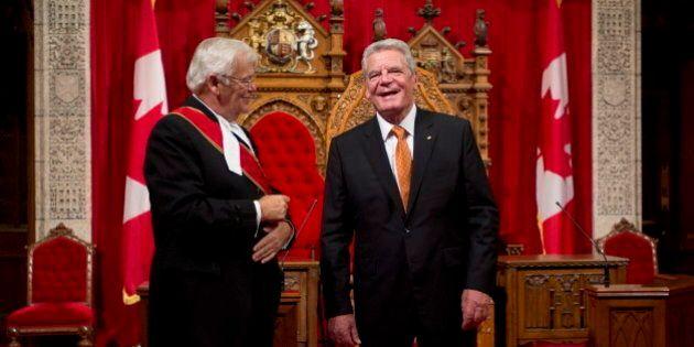 Le président de l'Allemagne, Joachim Gauck, se réjouit que le Québec ne se soit pas séparé du