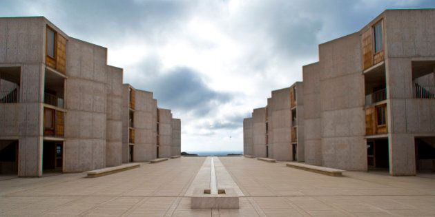 This Oct. 3, 2013 photo shows The Salk Institute, designed by world renowned architect Louis I. Kahn,...