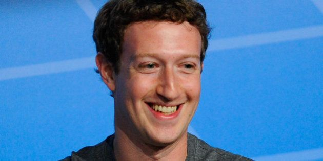 BARCELONA, SPAIN - FEBRUARY 24: Co-Founder, Chairman and CEO of Facebook Mark Zuckerberg speaks during...