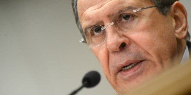 Russian Foreign Minister Sergei Lavrov holds his traditional start-of-year press conference in Moscow, on January 23, 2013,  with attention focused on Russia's position on the raging conflict in Syria. AFP PHOTO/ KIRILL KUDRYAVTSEV        (Photo credit should read KIRILL KUDRYAVTSEV/AFP/Getty Images)