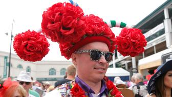 LOUISVILLE, KY - MAY 04: Fans display their fancy hats prior to the 145th running of the Kentucky Derby on May 4, 2019 at Churchill Downs, in Louisville, KY.(Photo by Jeffrey Brown/Icon Sportswire via Getty Images)