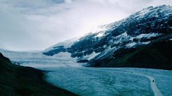 La fonte rapide du glacier Athabasca est