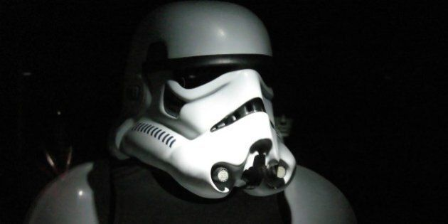 Another shot from the Star Wars exhibition - I like the shadows in this