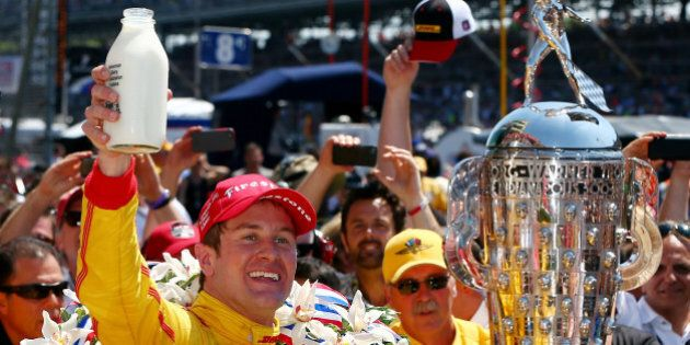 INDIANAPOLIS, IN - MAY 25: Ryan Hunter-Reay, driver of the #28 DHL Andretti Autosport Honda Dallara,...