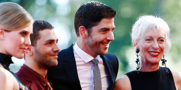 VENICE, ITALY - SEPTEMBER 02:  Actress Evelyne Brochu, director Xavier Dolan, actors Pierre Yves Cardinal and Lise Roy attend the 'Tom At The Farm' Premiere during the 70th Venice International Film Festival at the Palazzo del Cinema on September 2, 2013 in Venice, Italy.  (Photo by Andreas Rentz/Getty Images)