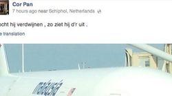 Cette PHOTO aurait été prise par un passager du MH17 à