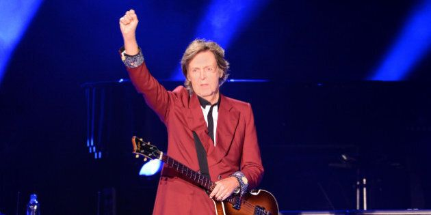 SAN FRANCISCO, CA - AUGUST 14: Sir Paul McCartney performs live at the last event 'Farewell to Candlestick'...
