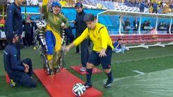 Paraplégique, il a donné le coup d'envoi grâce à un