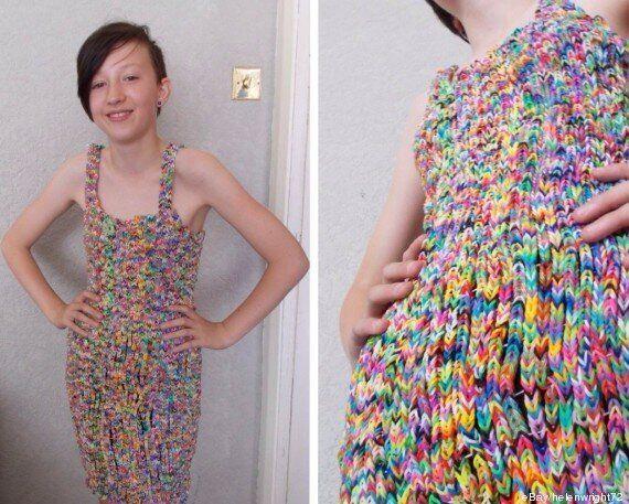 Une robe en Rainbow Looms affole les enchères sur eBay