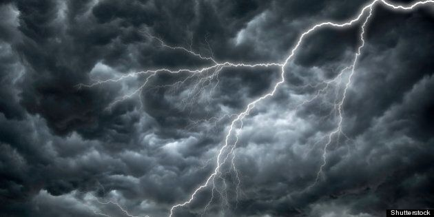 dark ominous rain clouds