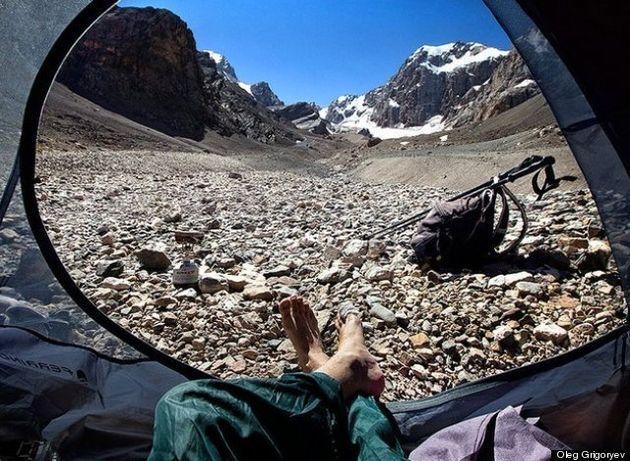 Ces photos prises de l'intérieur d'une tente donnent sérieusement envie de