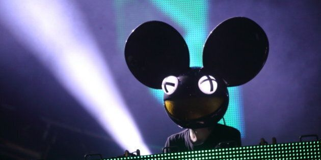 Joel Zimmerman aka Deadmau5 performs at the Ultra Music Festival at Bayfront Park, on Saturday, March...