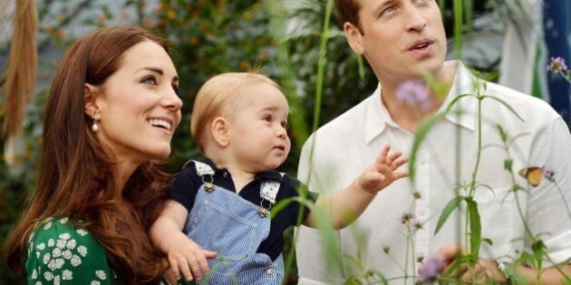 A photograph taken in London on Wednesday July 2, 2014, to mark Britain's Prince George's first birthday,...
