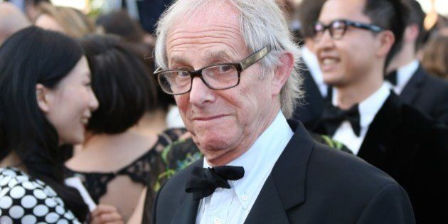 British director Ken Loach arrives for the screening of the film 'Deux Jours, Une Nuit (Two Days, One...