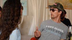 Matthew McConaughey fait honneur à «Dazed and Confused» sur son chandail