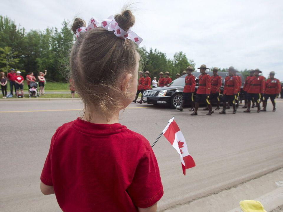 Funérailles à Moncton: d'émouvantes photos avant et pendant la