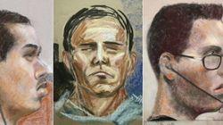 Croquis d'audience: l'évolution des visages de Luka Rocco Magnotta