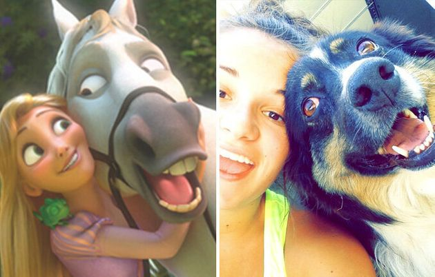Ces humains et leurs amis animaux pourraient être dans des films Disney