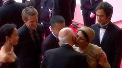 La bise du festival de Cannes qui fait scandale en