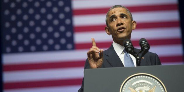 US President Barack Obama delivers a speech about US - Estonia relations, as well as the situation in...