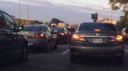 Un Montréalais «pète sa coche» dans le trafic