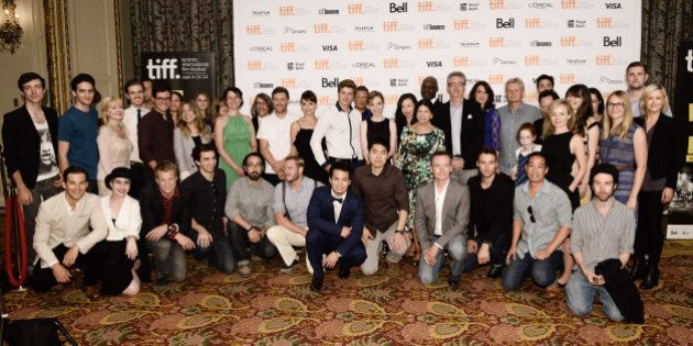 TORONTO, ON - AUGUST 06: TIFF Rising Stars pose with the directors and actors at the 2014 Toronto International...