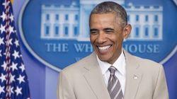 Le costume couleur sable d'Obama fait ricaner le