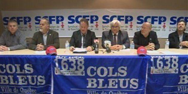 Les cols bleus de Québec votent samedi sur l'entente de principe