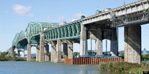 Pont Champlain: remplacement ce week-end de la superpoutre par un