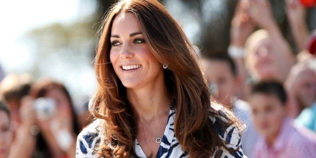 KATOOMBA, AUSTRALIA - APRIL 17:   Catherine, Duchess of Cambridge arrives at the Blue Mountains suburb of Winmalee, that lost homes during bushfires last year on April 17, 2014 in Katoomba, Australia. The Duke and Duchess of Cambridge are on a three-week tour of Australia and New Zealand, the first official trip overseas with their son, Prince George of Cambridge.  (Photo by Phil Noble - WPA Pool/Getty Images)