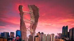 Un projet de gratte-ciel siamois à Hong Kong