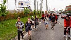 Marche des peuples pour la terre mère : les marcheurs arrivent à Kanasetake