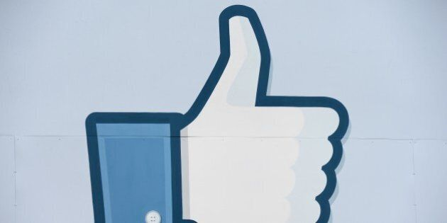 A thumbs up or 'Like' icon at the Facebook main campus in Menlo Park, California, May 15, 2012. Facebook,...